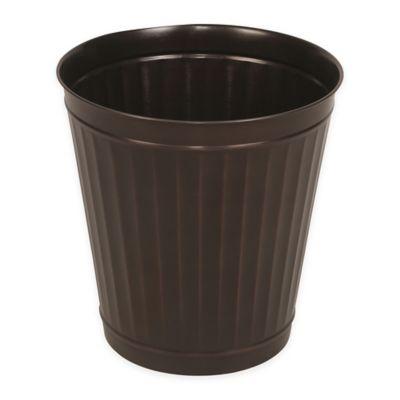 Waste bin in oil rubbed bronze bed bath beyond for Oil rubbed bronze bathroom wastebasket