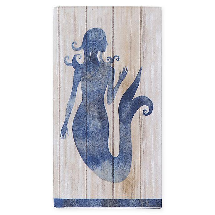 Mermaid Guest Towels: Creative Converting™ 16-Count Blue Mermaid Paper Guest