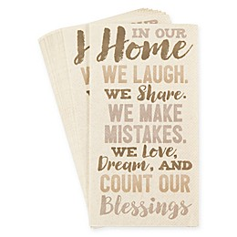 "Creative Converting™ 32-Count ""In Our Home"" Paper Guest Towels"