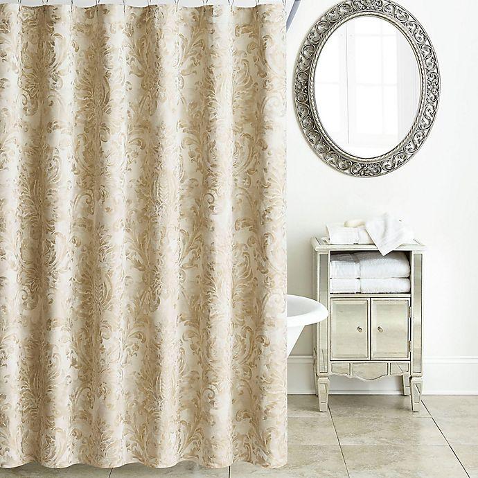 gold shower curtain rail