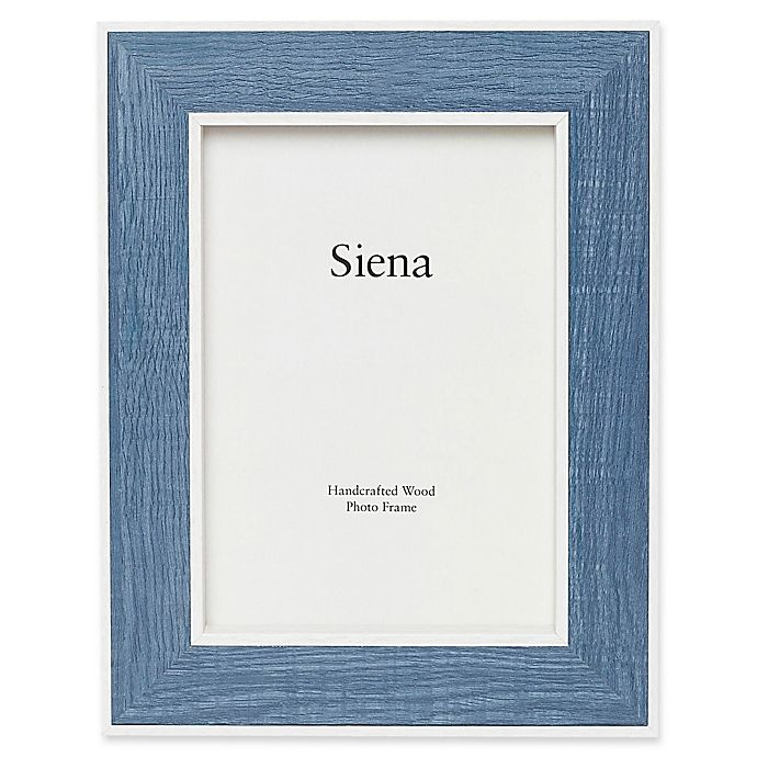 Alternate image 1 for Siena 8-Inch x 10-Inch Weathered Wood Frame in Blue
