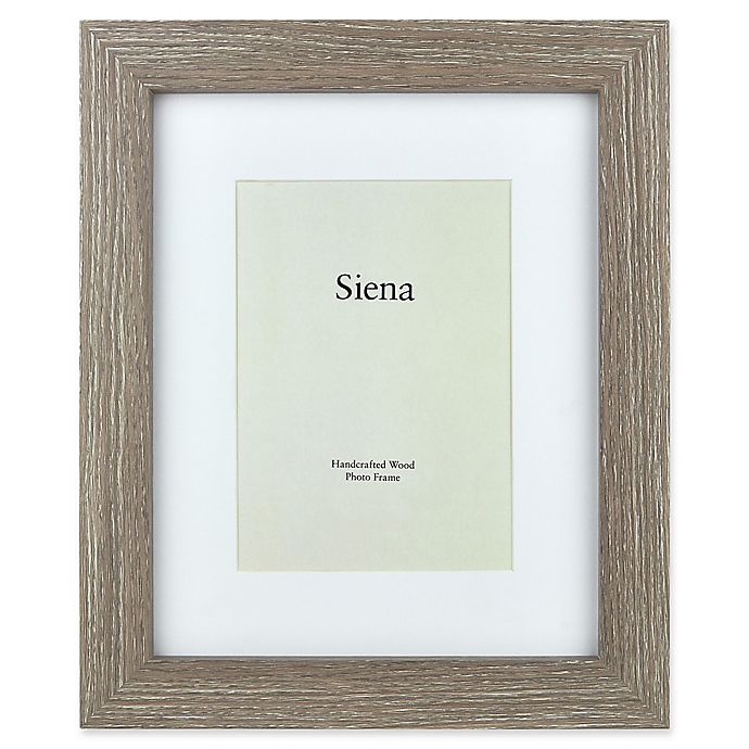 Siena 8 Inch X 10 Weathered Wood Matted Frame