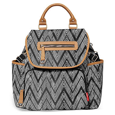 SKIP*HOP® Grand Central Take it All Backpack Diaper Bag in Zebra Black