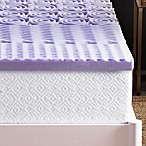 Lucid 2-Inch 5-Zone Memory Foam California King Mattress Topper in Purple