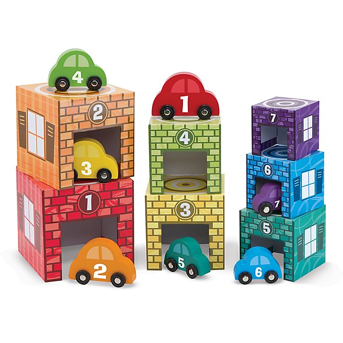 Alternate image 1 for Melissa & Doug® Nesting & Sorting Garages & Cars