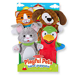 Melissa & Doug® 4-Piece Playful Pets Hand Puppets