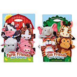 Melissa & Doug® 8-Piece Farm & Zoo Friends Hand Puppet Bundle