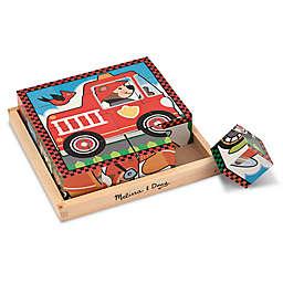 Melissa & Doug® Wooden Vehicles Cube Puzzle