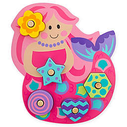 Stephen Joseph® 6-Piece Mermaid-Shaped Wooden Peg Puzzle