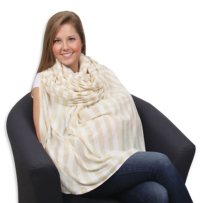 Alternate image 1 for Leachco® Luxi™ Infinity Nursing Scarf in Khaki/Ivory