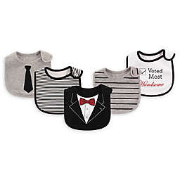 Baby Vision® Little Treasures 5-Pack Tux Bibs in Black