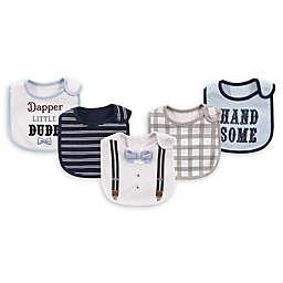 Baby Vision® Little Treasures 5-Pack Dapper Dude Bibs in White