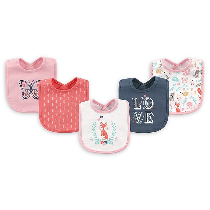 Alternate image 1 for Hudson Baby® 5-Pack Drooler Bibs