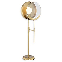 Pacific Coast Lighting® 1-Light Magnifying Table Lamp in Brushed Brass
