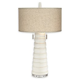 Pacific Coast® Lighting Kathy Ireland® Column Bisque Table Lamp in White