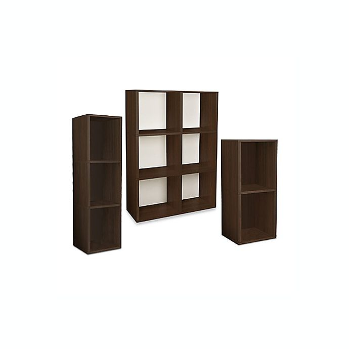 Alternate image 1 for Way Basics Tool-Free Assembly Bookcase and Storage Shelf in Espresso Wood Grain