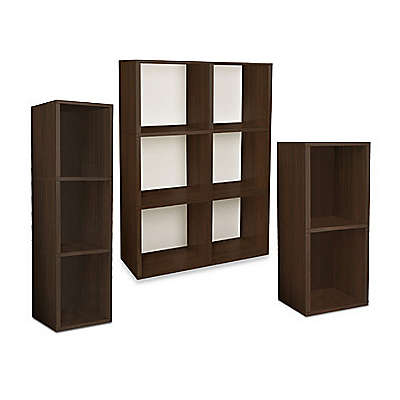 Way Basics Tool-Free Assembly Bookcase and Storage Shelf in Espresso Wood Grain