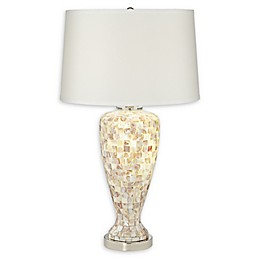 Pacific Coast® Lighting Mother of Pearl Table Lamp with Nightlight