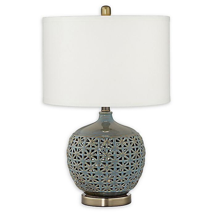 Pacific Coast Lighting Moroccan Ceramic Table Lamp With Night Light In Sage Green