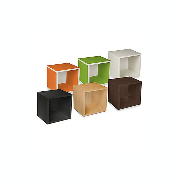 Alternate image 1 for Way Basics Tool-Free Assembly zBoard paperboard Stackable Storage Cube