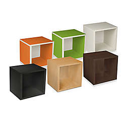 Way Basics Tool-Free Assembly zBoard paperboard Stackable Storage Cube