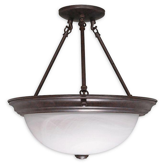Alternate image 1 for Filament Design 3-Light Semi-Flush 15.25-Inch Light in Old Bronze