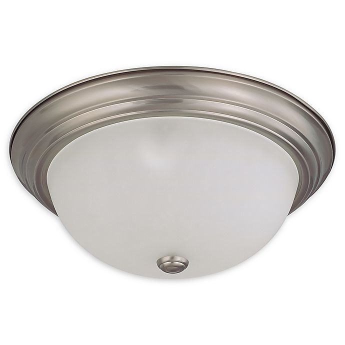 Alternate image 1 for Filament Design 15.25-Inch Double-Light Flush-Mount Ceiling Fixture in Brushed Nickel