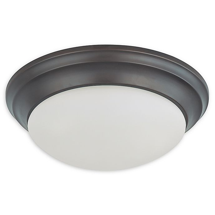 Alternate image 1 for Filament Design 2-Light Mahogany Flush Mount Lighting Fixture in Bronze