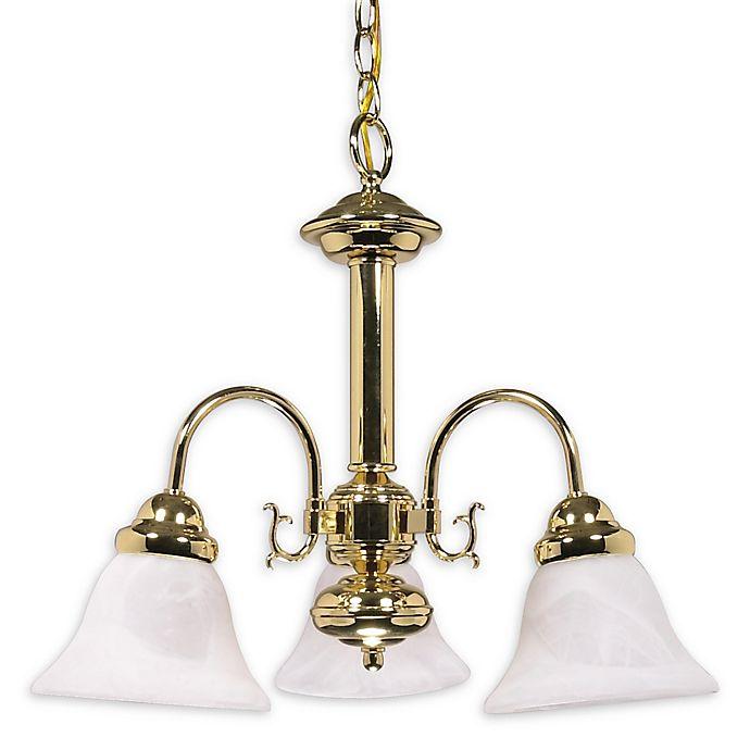 Alternate image 1 for Filament Design Marbled Chandelier in Polished Brass