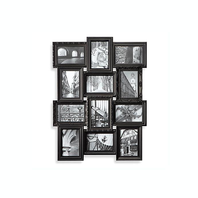 Revet 12-Opening Collage Frame - Black | Bed Bath & Beyond