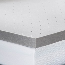 Lucid Memory Foam 3-Inch Mattress Topper in Grey