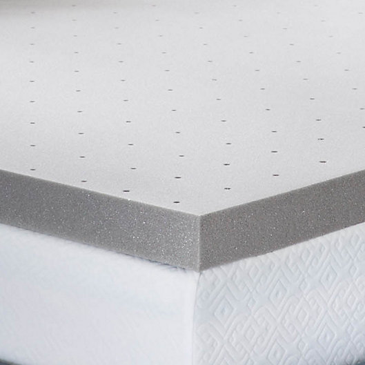 Alternate image 1 for Lucid Memory Foam 3-Inch King Mattress Topper in Grey