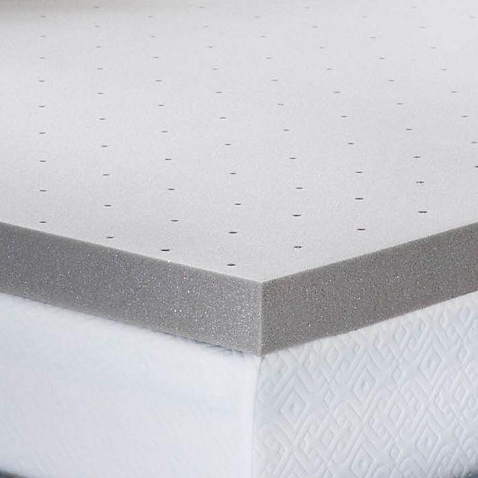 Alternate image 1 for Lucid Memory Foam 3-Inch Mattress Topper in Grey