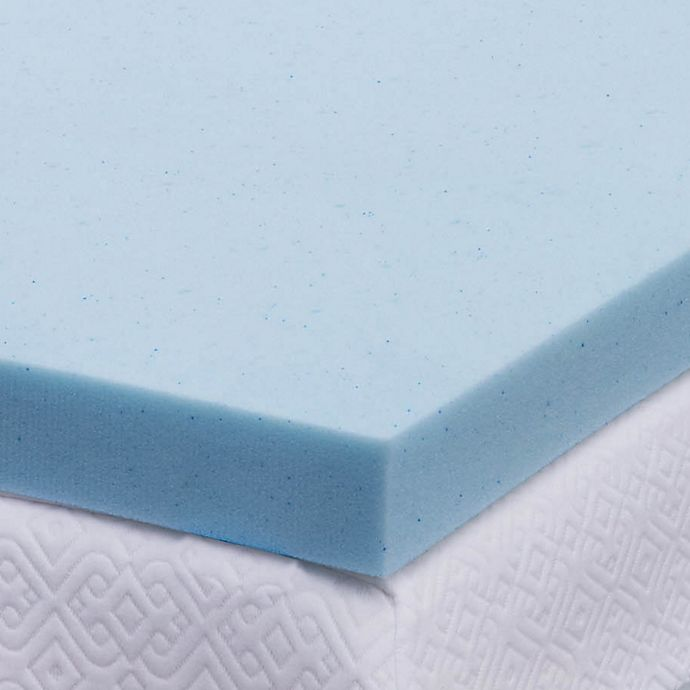 Alternate image 1 for Lucid Memory Foam 3-Inch Queen Mattress Topper in Blue