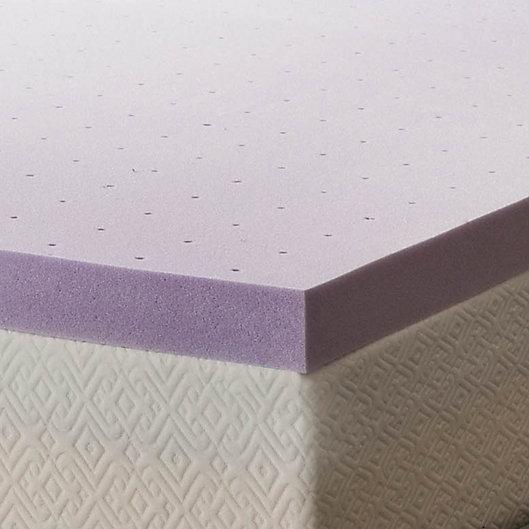 Alternate image 1 for Lucid Memory Foam 3-Inch Queen Mattress Topper in Purple