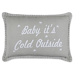 Vintage House by Park B. Smith® Cold Outside Oblong Throw Pillow in Grey