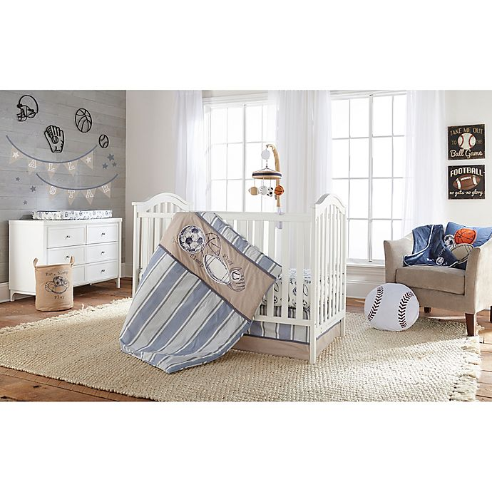 Alternate image 1 for LevtexBaby® Little Sport 5-Piece Crib Bedding Set