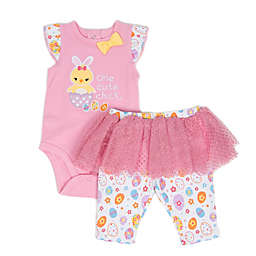 Sterling Baby 2-Piece Cute Chick Bodysuit and Tutu Pant Set in Pink