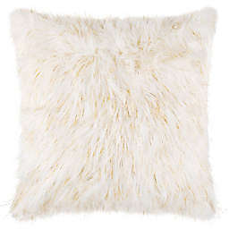 Make-Your-Own-Pillow Stacey 20-Inch Faux Fur Square Throw Pillow Cover in Natural