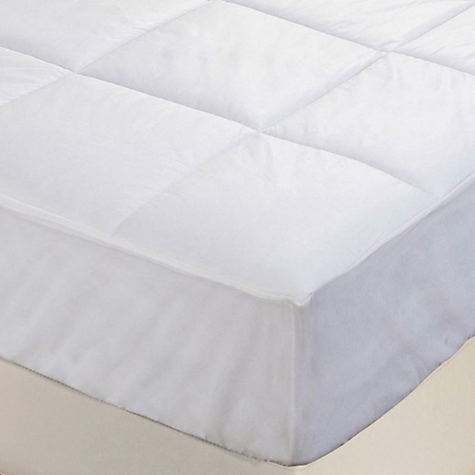 Alternate image 1 for Everfresh Antibacterial Water Resistant Mattress Pad in White