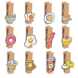 Grasslands Road Breakfast Theme Magnet Photo Clips (Set of 12)