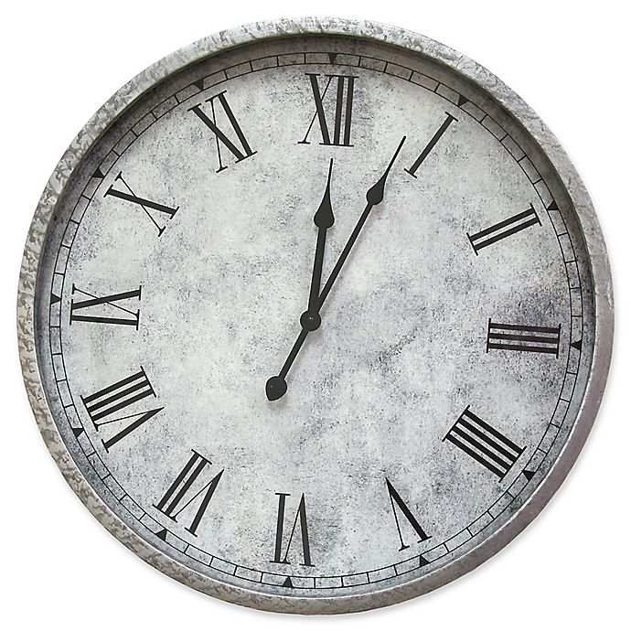 Alternate image 1 for Stratton Home Décor 11.75-Inch Gaston Wall Clock in Silver
