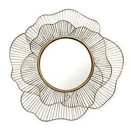Stratton Home Décor 28-Inch Round Stella Wall Mirror in Gold