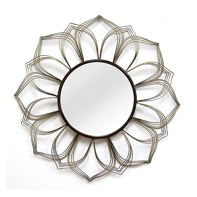 28 Inch Round Ariana Wall Mirror In Bronze Silver View A Larger Version Of This Product Image