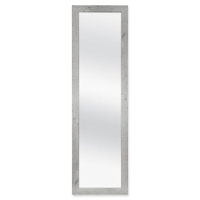 Alternate image 1 for Over-The-Door Hanging Mirror in Grey