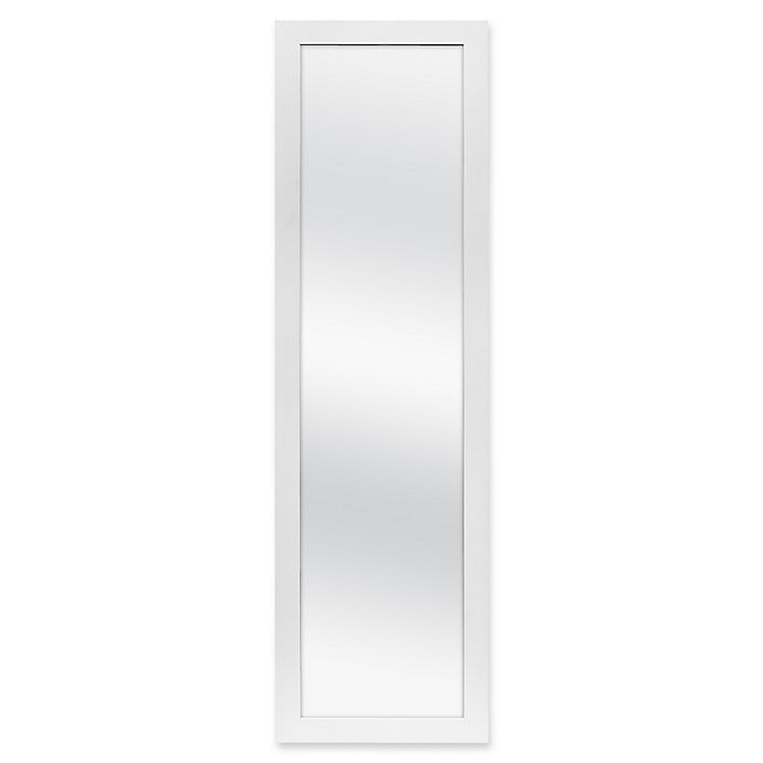 Alternate image 1 for Over-The-Door Hanging Mirror in White
