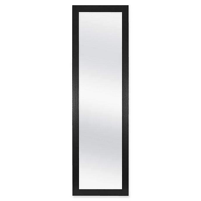 Alternate image 1 for Over-The-Door Hanging Mirror in Black