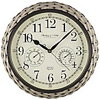 Sterling & Noble 15.5-Inch Indoor/Outdoor Woven Wall Clock