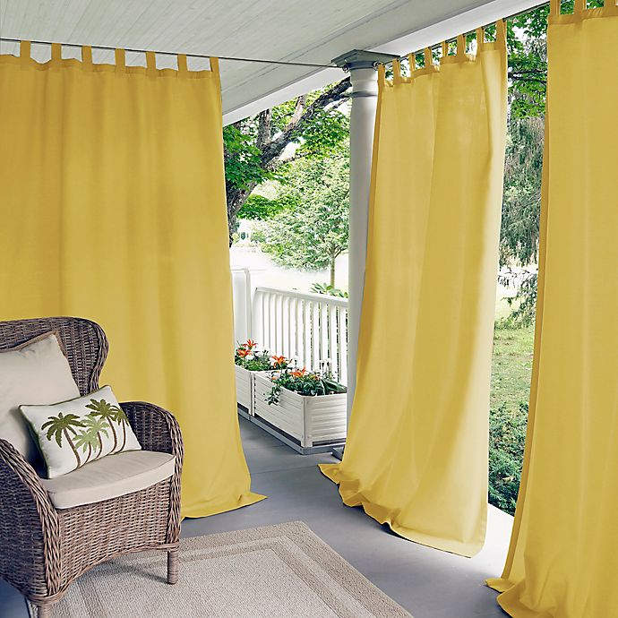 Alternate image 1 for Elrene Home Fashions Matine 84-Inch Tab Top Window Curtain Panel in Yellow