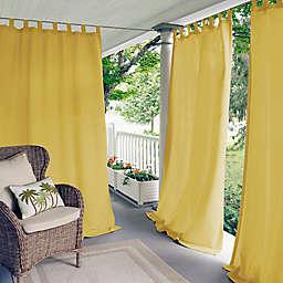 Elrene Home Fashions Matine 95-Inch Tab Top Window Curtain Panel in Yellow (Single)